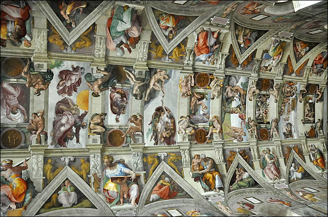 La chapelle sixtine - Michel ange chapelle sixtine plafond ...