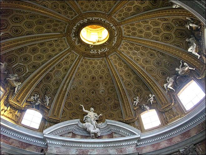 Eglise Saint André du Quirinal - San Andrea al Quirinale de Rome.