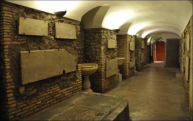 Rome Chrétienne et ses monuments - EUGENE DE LA GOURNERIE - 1867 Sainte-cecile-trastevere-7
