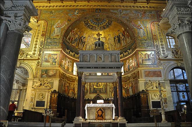 Rome Chrétienne et ses monuments - EUGENE DE LA GOURNERIE - 1867 Sainte-marie-trastevere-5