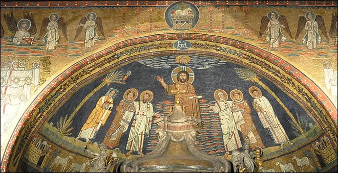 Rome Chrétienne et ses monuments - EUGENE DE LA GOURNERIE - 1867 Sainte-praxede-5